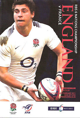 ENGLAND v FRANCE 2011 RUGBY PROGRAMME 26 FEBRUARY - TWICKENHAM