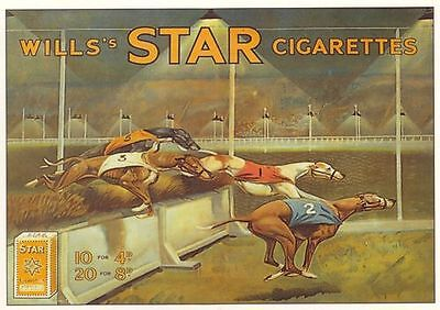 Vintage Wills Cigarettes Greyhound Racing Advertising Poster A3 Reprint