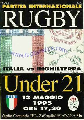 ITALY v ENGLAND UNDER 21 1996 RUGBY PROGRAMME