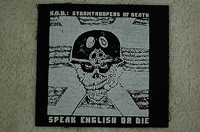 S.O.D. Stormtroopers Of Death Rock Metal Cloth Patch (CP175)