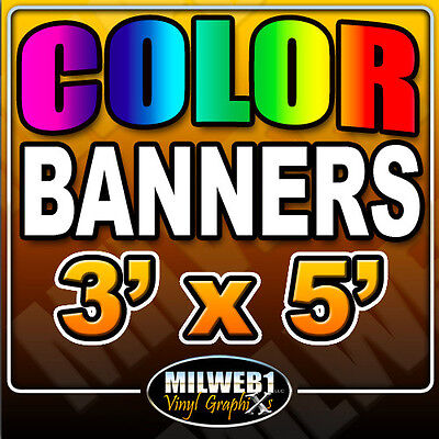 "3x5 Custom Vinyl Banner, 13oz FULL COLOR (36""x60"")"