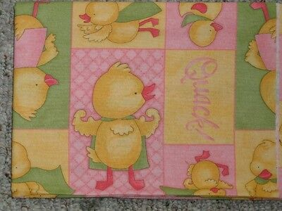 PACK N PLAY or PLAYPEN COVER -DEBBIE MUMM FLYING QUACK PATCHWORK&SCATTER PRINT