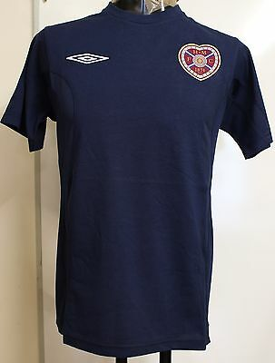 Hearts Navy Bench Cotton Tee By Umbro Adults Size Small Brand New With Tags