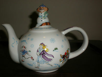 ALICE IN WINTERLAND WONDERLAND 18 OZ. TEA POT NEW IN BOX