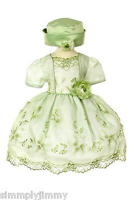 Baby toddler Infant Girl Pageant Formal Dress Sage size S M L XL (0-36 Month New