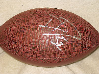 David DeCastro Signed Football Stanford Pittsburgh Steelers COA