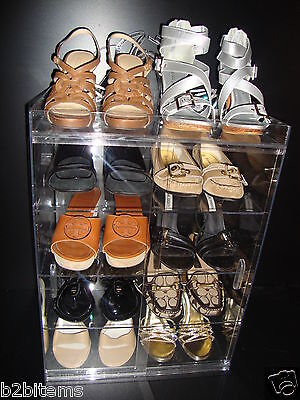 Shoe Storage Container Acrylic Lucite showcase Retail Store Cabinet Display case