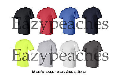 Gildan NEW Mens Tall Size Tees XLT 2XLT 3XLT 100% Ultra Cotton T-Shirt 2000T