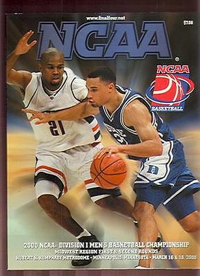 2000 NCAA Basketball Midwest Regional 1st 2nd Rounds Minneapolis NM (Sku-8172)DP