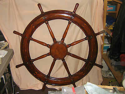 "48"" Helm Wheel-one of a kind nautical decoration"