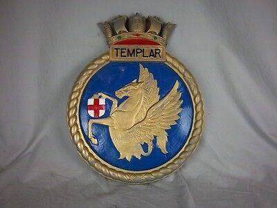 "HMS Templar Ships Badge T-class Submarine 18"" x 14"" One Off Casting"