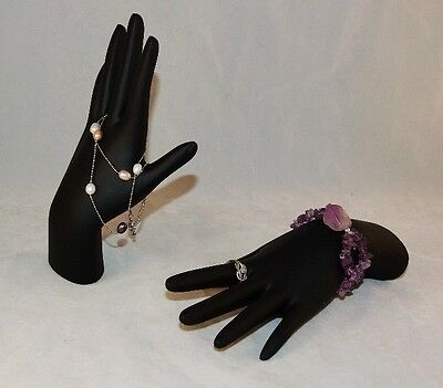 Black Polystrene Hand Display For Rings And Bracelets