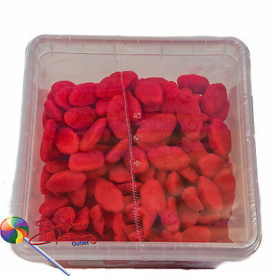 Strawberry Clouds Tub  -  300 PCS  - CHUNKY Lollies - gluten free