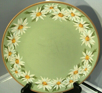 """Taylor Smith and Taylor LAZY DAISEY 8 1/2"""" SAGE GREEN Salad Plate P90"""