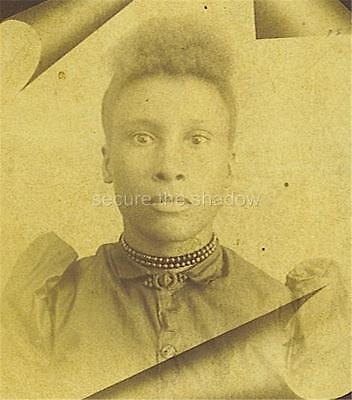 CABINET CARD PHOTO: Post Mortem MEMORIAL Adolescent AFRICAN AMERICAN GIRL ID'd