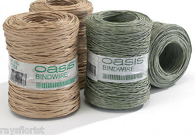 Bindwire Paper Covered Large 205 Metre Roll Floristry Wire Product