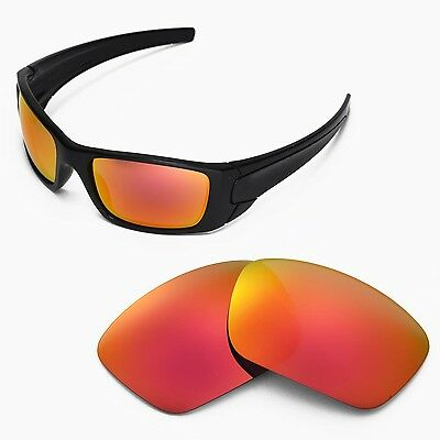 New Walleva Polarized Fire Red Lenses For Oakley Fuel Cell
