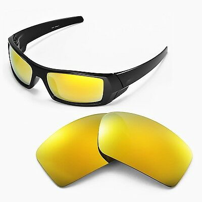 New Walleva Polarized 24K Gold Lenses For Oakley Gascan