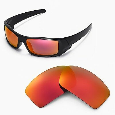 New Walleva Polarized Fire Red Lenses For Oakley Gascan