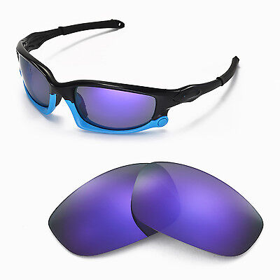 New Walleva Polarized Purple Lenses For Oakley Split Jacket