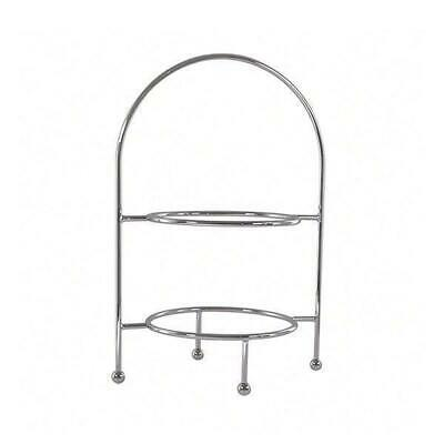 Round Display Stand, 2 Tier, Chrome Plated, High Tea / Cake / Platter / Catering