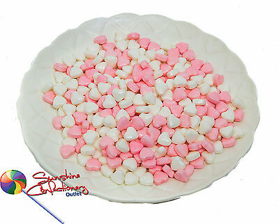 Pink & White Candy Hearts - 1kg - Bulk Candies, Postage Included