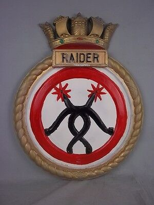 "HMS Raider (H 15) Ships Badge R-class Destroyer 18"" x 14"" One Off Casting"