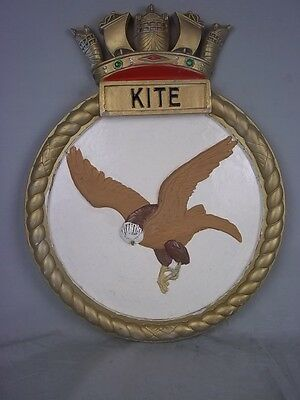 "HMS Kite (U 87) Ships Badge Black Swan-class Sloop 18"" x 14"" One Off Casting"