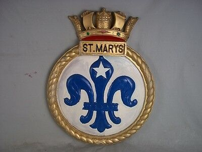 "HMS St. Marys Ships Badge Type C Annapolis-Class  18"" x 14"" One Off Casting"