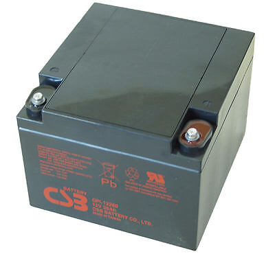 CSB GP 12260 Rechargeable Sealed Lead Acid Battery 12V 26Ah GP12260 SLA