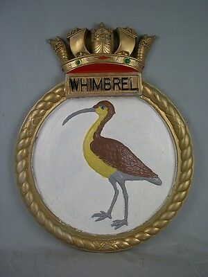 "HMS Whimbrel (U29) Ships Badge Black Swan-class Sloop 18"" x 14"" One Off Casting"