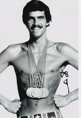 Mark Spitz genuine hand signed 12x8 Image A photo UACC