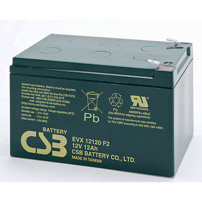 CSB EVX 12120 F2 Cyclic Sealed Lead Acid Battery 12V 12Ah EVX12120F2 SLA
