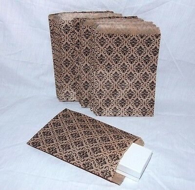 100 Gift Or Shopping Bags Damask Design