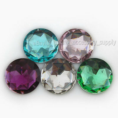 20x Mixed Crystal Resin Costume Sew-On Buttons 30mm 24086