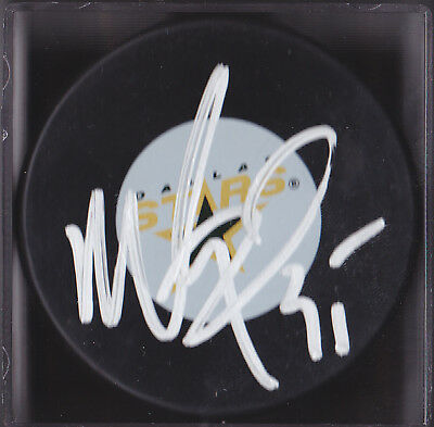 MARTY TURCO AUTOGRAPHED DALLAS STARS LOGO PUCK