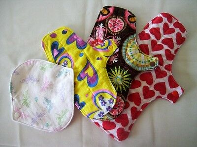 Chickadee Reusable cloth menstrual pad Trial Pack - HANDMADE IN AUSTRALIA
