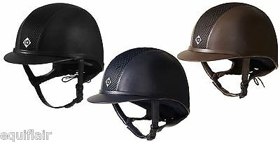 Charles Owen Leather Look Ayr8 - Ayr 8 - Riding Helmet - New Standards