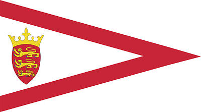 JERSEY STORM PENNANT TRIANGULAR FLAG 5' x 3' Channel Islands