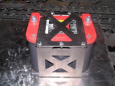 Optima 75/86 Battery box yellow red top tray offroad - STAINLESS STEEL