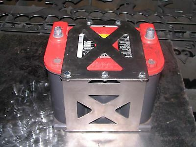 Optima 75/35 Battery box yellow red top tray offroad - STAINLESS STEEL