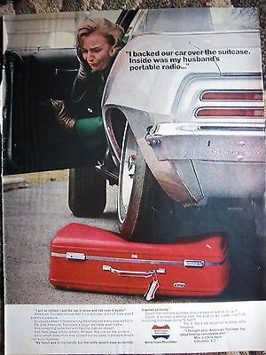 1968 American Tourister Luggage Suitcase Steel Frame Ad