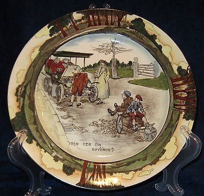 "Royal Doulton Automobile Series "" Itch Yer On Guvenor? ""  Plate"
