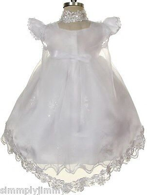 BABY Toddler GIRL CHRISTENING GOWN BAPTISM DRESS SIZE 0 1 2 3 4(0-30Month)