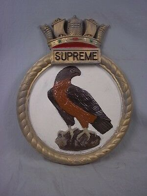 "HMS Supreme (P 252) Ships Badge S-class Submarine 18"" x 14"" One Off Casting"
