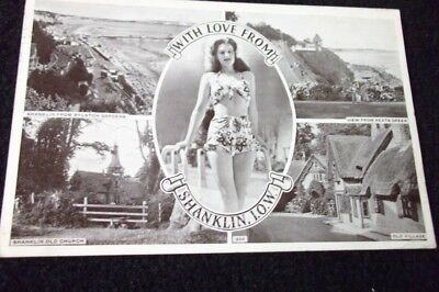 Old Multiview Postcard - With Love From Shanklin Isle Of Wight