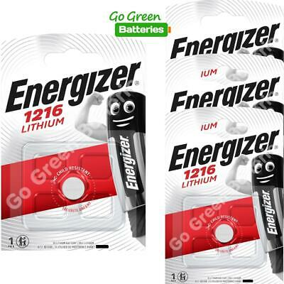 4 x Energizer 1216 CR1216 3V Lithium Coin Cell Battery DL1216 KCR1216, BR1216