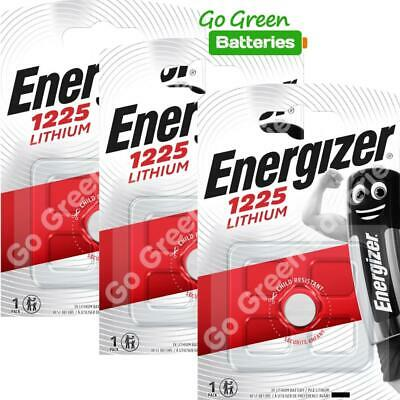 3 x Energizer 1225 CR1225 3V Lithium Coin Cell Battery DL1225 KCR1225, BR1225