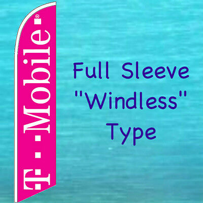 T MOBILE WINDLESS FEATHER FLAG Cell Phone Advertising Sign Swooper Banner
