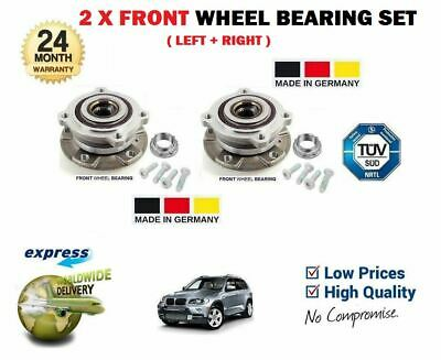 FOR BMW X5 E70 2007--> 2 x FRONT WHEEL BEARING & HUB KIT SET COMPLETE WITH BOLTS
